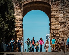 Arch (lauracastillo5) Tags: architecture arch blue sky people street photography city cityscape citylife old europe spain antequera outdoors town urban