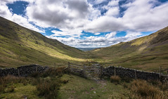 the gate again (Phil-Gregory) Tags: ambleside2019 nikon naturalphotography naturalworld iamnikon tokina tokina1120mmatx wideangle ultrawide landscapes scenicsnotjustlandscapes lakedistrict ambleside gate wall stonewall valley clouds cloudscape light d7200