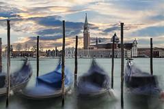 Giudecca - Venice (PLADIR) Tags: venice giudecca venedig italien italy longexposure langzeitbelichtung reisefotografie travelphotography sony a77 slta77ii venezia gondeln gondolas boote schiff water wasser ocean meer wolken clouds