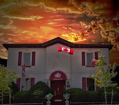 Brantford Ontario - Canada - The Brantford Club - Heritage (Onasill ~ Bill Badzo - - 64 Million Views - Thank ) Tags: brantcounty brantfordclub brantford on ont ontario canada vintage heritage canadian flag privae 98 george st street mansion residence dr john young brown 19898 100yearsold sunset golden banker publish barrister lawyer socialclub historic onasill architecture style italianate