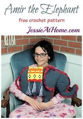 Amir the Elephant free crochet pattern by Jessie At Home (JessieAtHome) Tags: amir elephant free crochet pattern