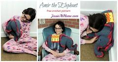 Amir the Elephant free crochet pattern by Jessie At Home - social (JessieAtHome) Tags: amir elephant free crochet pattern