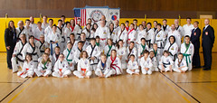 Clinic attendees (TheBurgners) Tags: tournament wtsda sanfrancisco missionhigh paresh tang soo do
