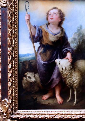 IMG_6256 Bartolome Esteban Murillo. 1617-1682. Séville. Le Bon Berger. vers 1680.  The Good Shepherd. Francfort Städelmuseum.