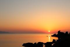 Sunset (Teruhide Tomori) Tags: water sky beach coast seashore shore kyoto tango yuhigaura landscape nature ocean japan japon sunset sea 京都 京丹後 網野 amino トワイライト 日没 夕方 日本 砂浜 ビーチ 丹後半島 rock sun 夕日ヶ浦海岸 太陽 夕日 夕陽 日本海