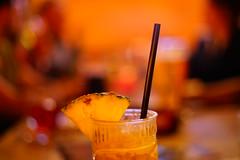 Café del Mar (Nathalie_Désirée) Tags: cocktail drink straw pineapple pineappleslice bokeh night evening bar nightout canon50mm sonyalpha7r2 sonyalpha7rii sonyαmo sonyα sonyamo serenade liquidasset