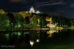 Mont Dei Cappuccini - Torino (Bouhsina Photography) Tags: torino italy bouhsina bouhsinaphotography night light eglise long exposure reflection rivière 2019 arbres vegetation ciel blue time nuage clouds sky