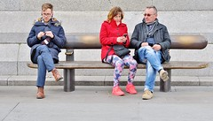 At Least He's In Stitches ! (jaykay72.) Tags: london uk street candid streetphotography trafalgarsquare stphotographia