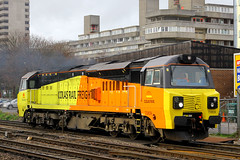 70809, Southampton Central, December 18th 2015 (Southsea_Matt) Tags: 70809 class70 colasrail generalelectric train railway railroad vehicle diesellocomotive december 2015 winter canon 60d southamptoncentral hampshire england unitedkingdom transport lightengine