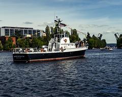 MV Maritime Instructor Waiting to Enter the Montlake Cut in Kodachrome Tones (AvgeekJoe) Tags: d7500 dslr kingcounty kodachrome lakeunion mvmaritimeinstructor nikon nikond7500 seattle usa washington washingtonstate