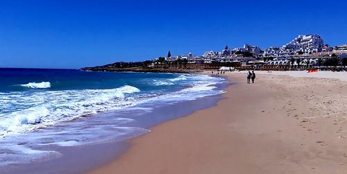 Praia da Luz beach from my phone