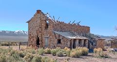 Stone House Ranch (joeqc) Tags: nevada nv nye fuji xt20 xf18135f3556 abandoned forgotten stone stonehouseranch ranch ruin ruins toquima monitor oncewashome house fence