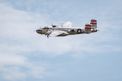 "B-25 Mitchell ""Panchito"" (ep_jhu) Tags: xt3 andrewsafb aircraft mitchell flying ww2 fujifilm b25 airplane andrewsairforcebase legendsinflight fuji airshow n9079z bomber 2019 wwii jointbase andrewsfield maryland unitedstatesofamerica"