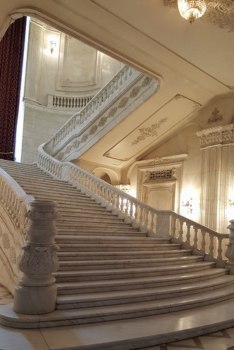 Bucharest-Palace of the Parliament-One of the Two Symetrical Staircases in the 13 September Hallway1