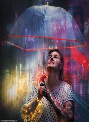 REVOLT * [ Cyberpunk ] (Red Cathedral [FB theRealRedCathedral ]) Tags: a7iii ilce7iii markiii sonya7markiii sony alpha mirrorless fullframe a7 a7mark3 alphaa7iii redcathedral aztektv wwwredcathedralart contemporaryart streetart urbanart digitalnomad travellingphotographer wanderlust cosplay larp protest activism alittlebitofcommonsenseisagoodthing cyberpunk rain umbrella neon scifi sf girl light lingerie underwear seethru seetrough neonlights cybernetics cyberarm implant shadowrun