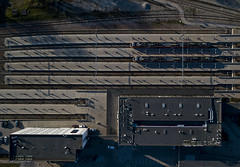 #195 Big train set (Timster1973 - thanks for the 16 million views!) Tags: aerial aerialphotography fly mavic drone uav quadcopter dji mavicprodrone djimavicpro up uphigh droneflying tim knifton timster1973 timknifton explore exploration perspective lookdown lookingdown color colour train trains station trainstation travel transport architecture composition shapes transportation