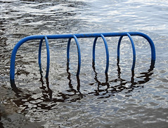 Westboro Beach flooded by this spring's thaw of the Ottawa River in Ottawa, Ontario (Ullysses) Tags: westborobeach westboro kitchissippilookout ottawa ontario canada beach plage ottawariver rivièredesoutaouais ottawariverfloodof2019 flood flooding inondation bikeracks