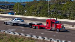 Kenworth W900 (NoVa Truck & Transport Photos) Tags: truck big rig 18 wheeler kenworth w900 cd trucking hustonville ky stretched frame drop deck flatbed