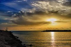 Tramonto siciliano - Sicilian sunset (Eugenio GV Costa) Tags: approvato tramonto gela sicilia acqua mare scogli sunset cielo sky sicily sea water rocks