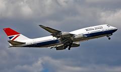 G-CIVB - Boeing 747-436 - LHR (Seán Noel O'Connell) Tags: britishairways ba speedbird gcivb boeing 747436 b747 b744 747 negus retro heathrowairport heathrow lhr egll 09r ba219 baw219v den kden aviation avgeek aviationphotography planespotting