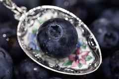 A Spoonful of Blueberry (j.towbin ©) Tags: allrightsreserved© spoon macro spoonful fruit aspoonful macromondays bokeh ef100mmf28lisusmmacro