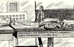 Seminarraum des Hogrefe-Verlags, Göttingen / Seminar Room of Hogrefe Publishing, Göttingen (Germany) (saschagademann) Tags: tusche indianink tuschezeichnung indianinkdrawing hogrefe göttingen goettingen urbansketch urbansketcher urbansketchers urbansketching seminarraum seminarroom