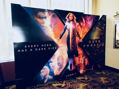 X-Men Movie - Dark Phoenix Standee NYC 7993 (Brechtbug) Tags: xmen movie dark phoenix billboard poster standee nyc 2019 new york city film science fiction scifi marvel super hero midtown street manhattan marquee space electric x men 05122019 may comic book comics comicbook spider man silver reflection mirror