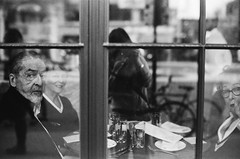 new chapter... (sam_samantha) Tags: chicago streetphotography agfavista400 leicam6 analog filmisnotdead reflection monochrome blackandwhite
