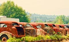 Waitng (creepingvinesimages) Tags: rust rusty antiques classics cars outdoors patina texture grandronde oregon pse14 topaz painterly vintagecars