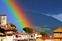 Springtime on the roof ! (after the storm) (eudibi) Tags: rainbow arcobaleno salaconsilina mirrorless vallodidiano parconazionaledelcilentoedelvallodidiano storm sonyalpha nikkorlens nikkorzoom southsalerno campania italy dramatic sky colors