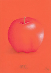 Orange. (Klaas van den Burg) Tags: orange apple colored pencils wordplay joke humor