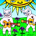 Two Pigs Play Guitar for The Flowers
