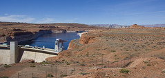 Glen Canyon Dam (LunarKate) Tags: us usa united states america unitedstates az arizona state landscape nikon d40 dslr roadtrip march 2017 travel glen canyon dam glencanyondam colorado river water road page