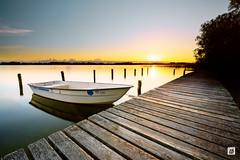 Steg am See (timobohnenkamp) Tags: a7iii emount graufilter ilce7m3 langzeitbelichtung mecklenburgvorpommern schaalsee sony verlaufsfilter sony1224g zarrentinamschaalsee deutschland longexposure sonnenuntergang sunset