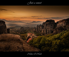 Just a Sunset (Nikos O'Nick) Tags: nikos kotanidis onick hellas greece meteora monasteries rousanou sunset rocks clouds golden nikon landscape manfrotto055xrpob 498rc2 nikond810 nikkor2470mmf28 justasunset valley νίκοσ κοτανίδησ μετέωρα ελλάδα καλαμπάκα καστράκι δύση