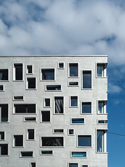 (LG_92) Tags: switzerland basel herzogdemeuron architectute contemporary facade windows silver blue sky modern xiaomi mobilepics 2019 spring may sunshine