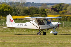 G-RACK Comco Ikarus C42 FB100 (amisbk196) Tags: airfield aircraft headcorn flickr amis aviation unitedkingdom 2019 kent uk lashenden grack comco ikarus c42 fb100
