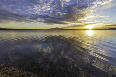1901 MANZANARES EL REAL (josemiguelsanchez) Tags: puesta de sol agua lago azul calma nubes sunset