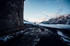 On the edge (ewitsoe) Tags: 20mm europe ewitsoe georgia nikond750 spring street travel erikwitsoe erikwitsoecom edge cliff moastery gergeti old ancient mountains kazbegi cold chill springbutwinter woman female building architecture snow ice region