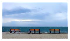 Seaside (Timothy Valentine) Tags: capecod beach ocean bench sky 0419 2019 monday southyarmouth massachusetts unitedstatesofamerica