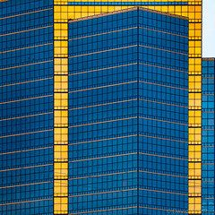 Detroit Geometry (David M Strom) Tags: abstract olympusem1markii davidstrom olympus12100 reflections architecture