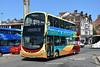 Go Ahead East Yorkshire 791, BP15OLE. (EYBusman) Tags: go ahead north east yorkshire motor services eyms hull bus coach westborough town centre scarborough locals coaster wright eclipse gemini volvo b9tl bp15ole eybusman