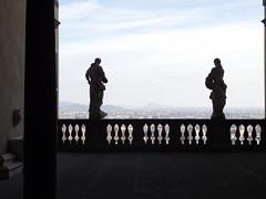 Statues on a balcony overlooking Bergamo (2) (litlesam1) Tags: statues italy2019 duepazziragazziamilano2019 march2019 bergamo