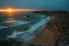 Sagres Sunset (calhack7) Tags: sunset sky clouds water cliffs waves portugal lagos algarve sagres