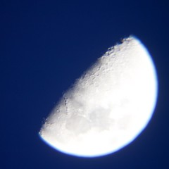 out of the blue (remcclean) Tags: moon lune lunar blue sky evening outdoor espace space univers universe systèmesolaire solarsystem cratères cratère crater craters astronomie astronomy satellite