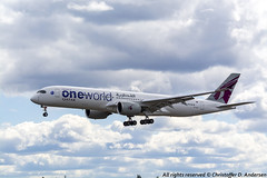 A7-ALZ (3) (Christoffer Andersen) Tags: qatar qatarairways airbus a350 a350900 oneworld oneworldlivery osl osloairportgardermoen gardermoen passengerplane airplane aircraft planespotting