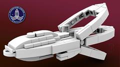 LEGO Orville Micro (Paulygons) Tags: spaceship science fiction lego moc starship orville seth macfarlane paulygon micro mini show custom
