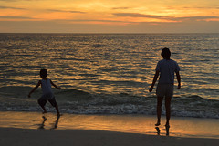 Playing with the waves (radargeek) Tags: naples fl florida 2018 october kid child sunset beach sand