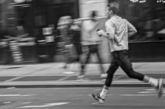 The runner! (Capitancapitan) Tags: neury luciano street photography black white manhattan cantautor songwriter urim y tumim el mundo gira bachata merengue pop rock nyc new york city people iphone apple instagram