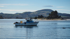 Karitane Fishing boat (RP Major) Tags: karitane fishing boat new zealand nz landscape water bay ocean hills